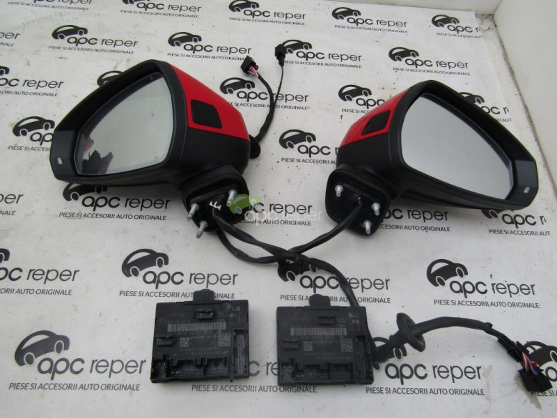 Side-view electric mirrors kit with folding and side assist Audi A3