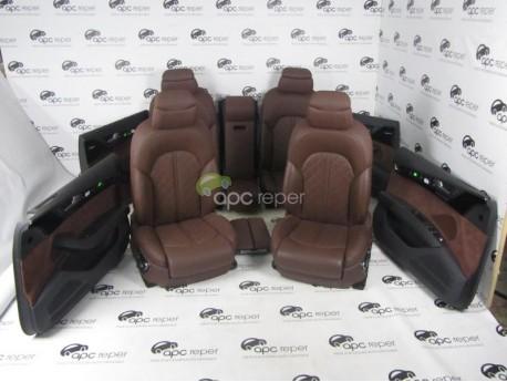 Interior piele Brown Audi A8 4H
